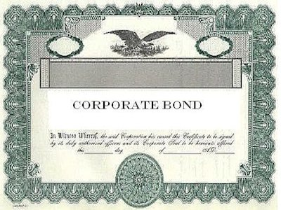 Bond for Corporate bond certificate template