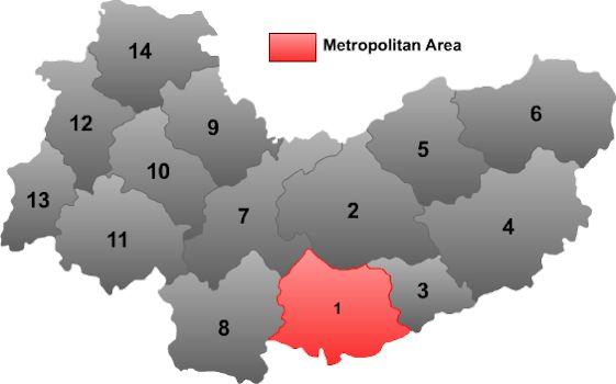 Xinzhou China  city images : Location of Xinzhou within Shanxi Province within China 1 District, 1 ...
