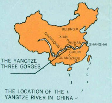 Yangzi River Map - Chang river world map