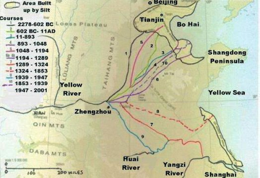 Map Of China Yellow River.China S Yellow River