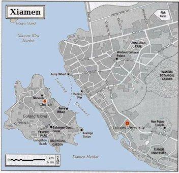 Map Xiamen.Map Of Xiamen Fujian China