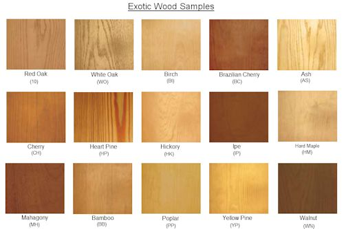Different Types Of Wood Colors Pictures To Pin On