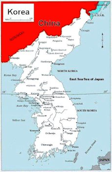 Korean War Maps - Map of Korea