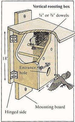 bird roosting house plans