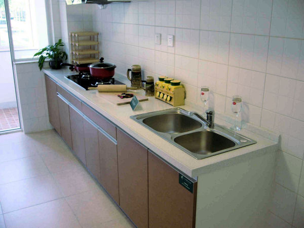 Upscale Kitchen. Beijing Olympic Garden Apartment Kitchen