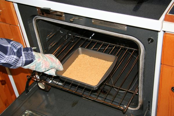 Putting Cake In Oven