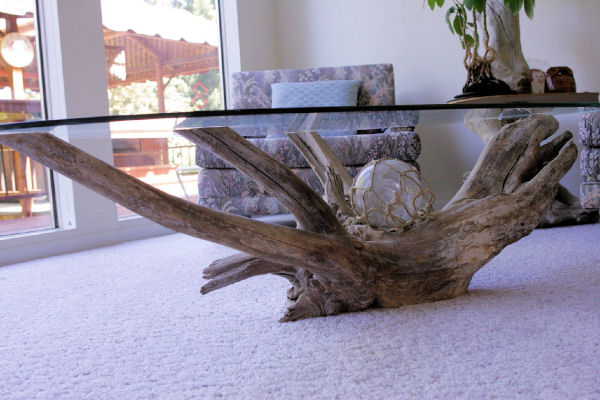Driftwood Glass Table At Noll 39 S Pleasant Hill Oregon Home
