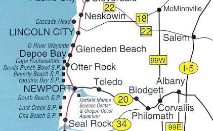 D River Beach Wayside Lincoln City Oregon Coast