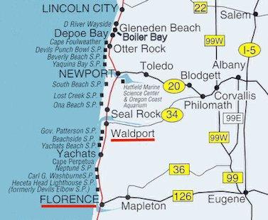 Similiar Map Of Northern Oregon Coast Keywords