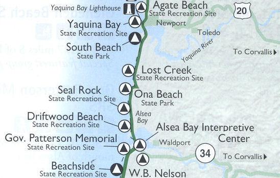 Governor Patterson Wayside Waldport Oregon Coast